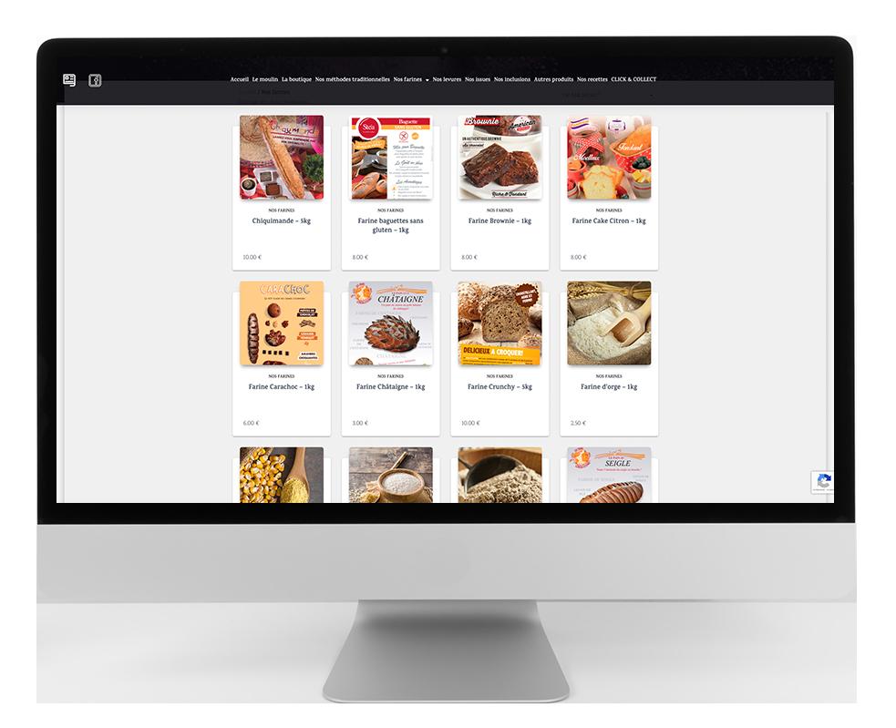 Visuel montrant un catalogue de produits Pluseo.fr
